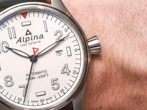 Alpina Pilot White Dial